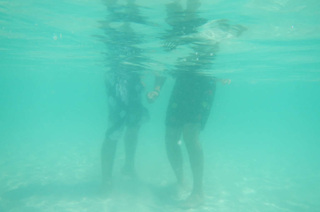ラン島の綺麗な海水