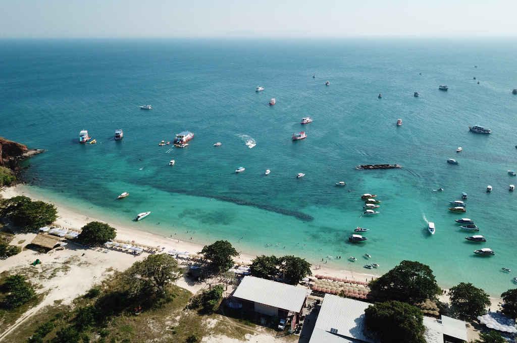 DJI MavicProで空撮したラン島のヌアンビーチ