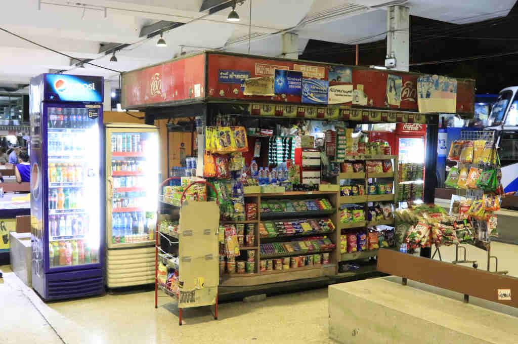 タイバンコクのエカマイバスターミナルにある売店