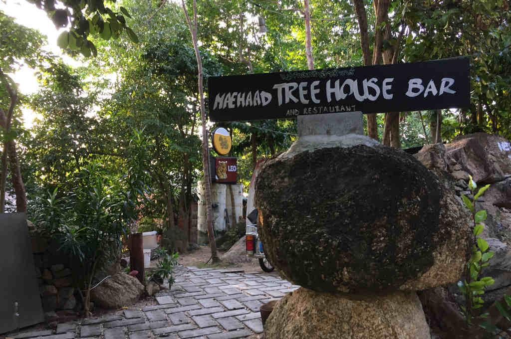 タイパンガン島のTree House Bar