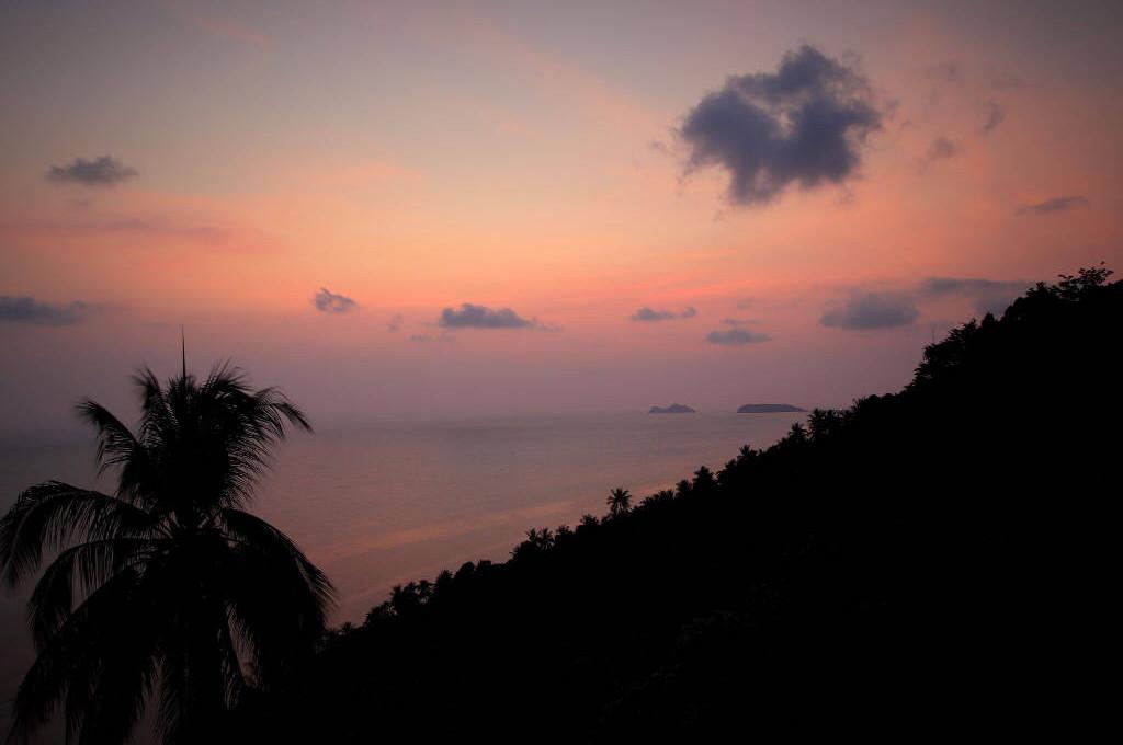 タイパンガン島の夕陽