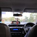 タイバンコクのタクシー車内
