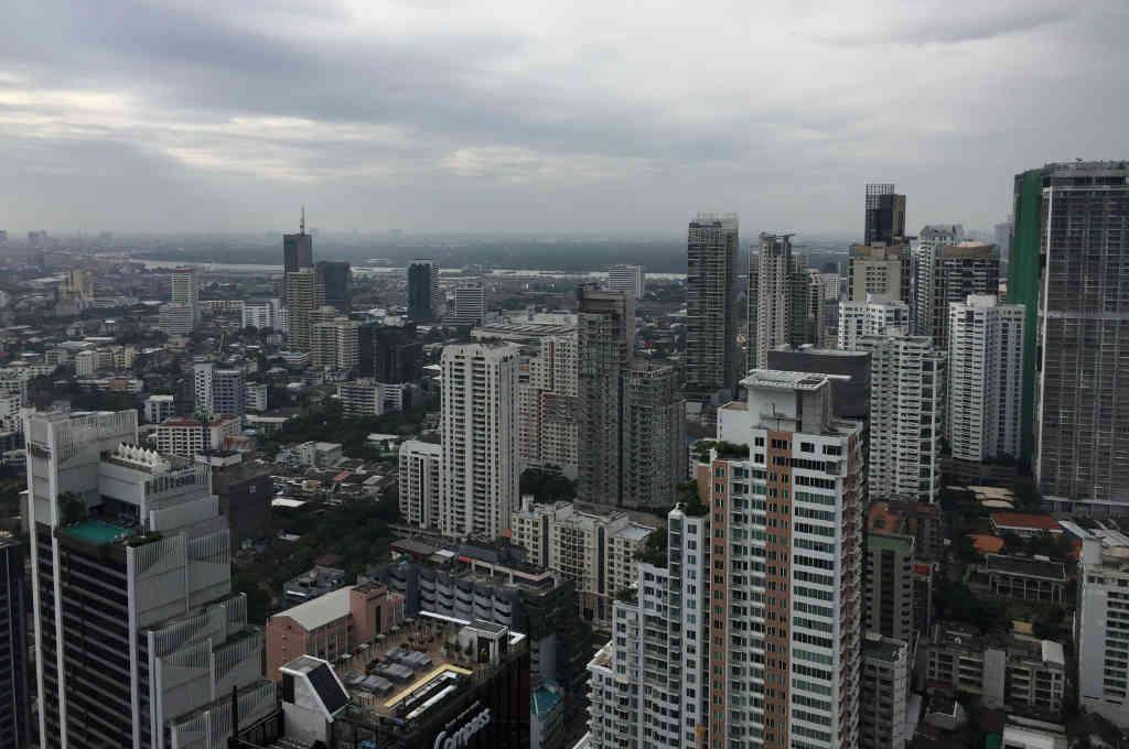 タイバンコクの高層ビル群