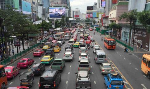 タイバンコクの渋滞