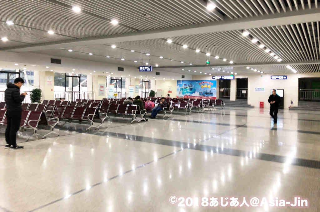 成都新南門バスターミナルのチケット売り場