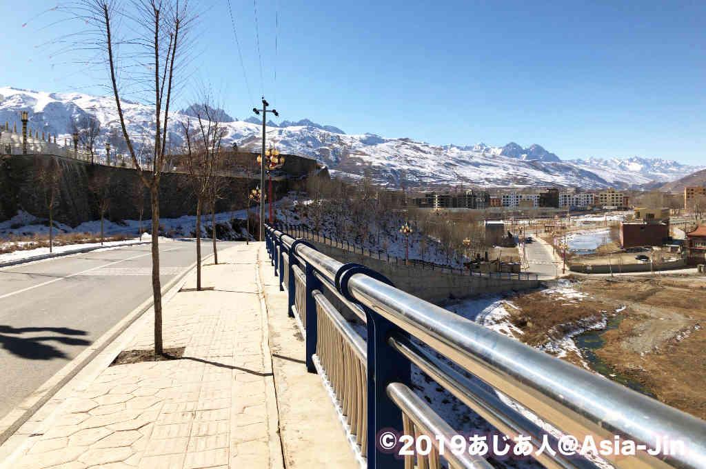 甘孜の白塔公園