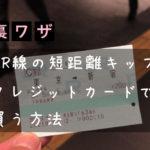JR特急用の券売機でクレジットカードを使う