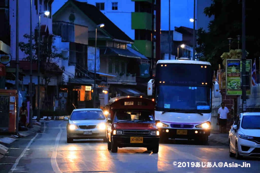 北タイチェンマイの街並み