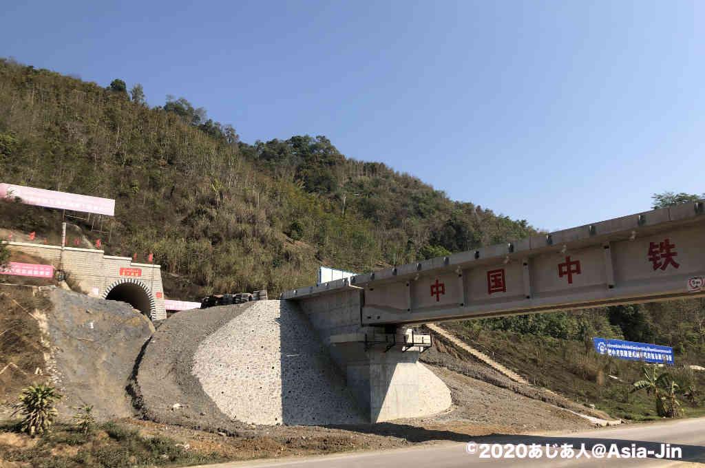 ラオス中国の国境ボーテン