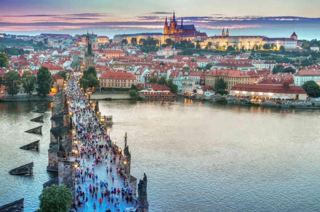チェコ・プラハの町